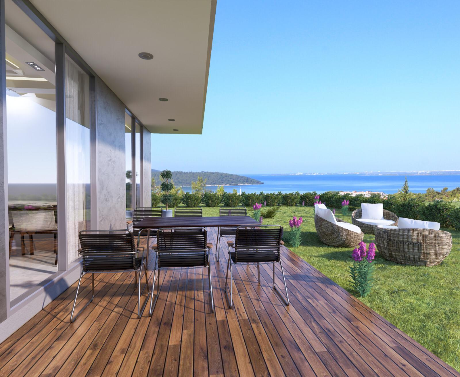 1-Bed Sea View Akbuk Apartment